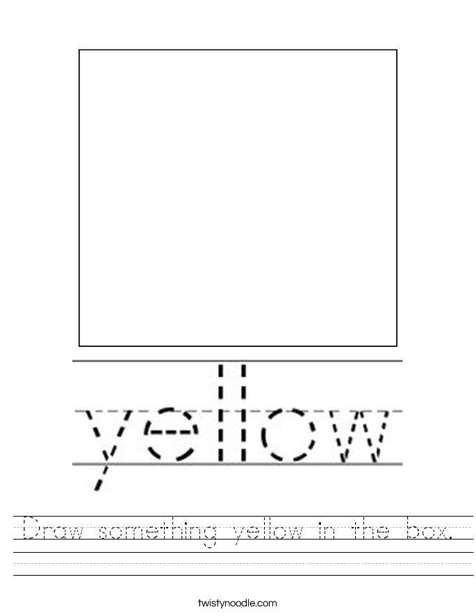 Yellow Worksheets - Twisty Noodle
