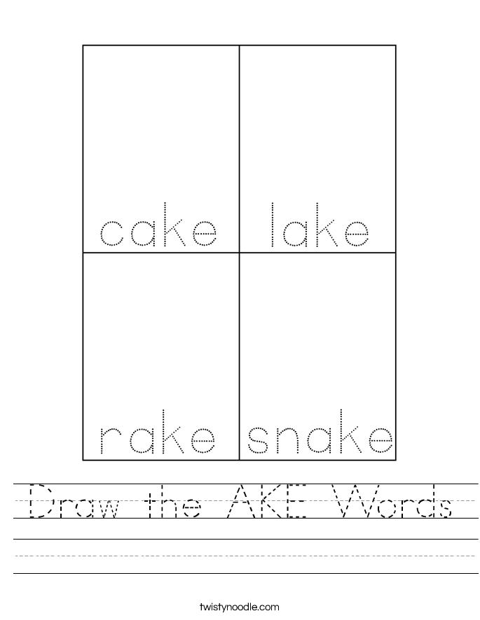 Draw the AKE Words Worksheet