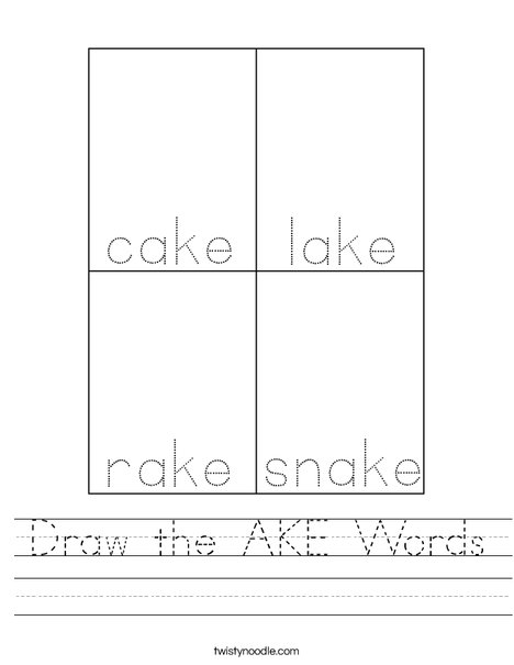 Draw the AKE Words Worksheet