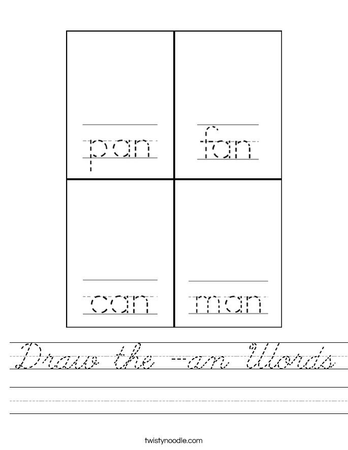 Draw the -an Words Worksheet