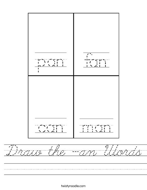 Draw the -an words. Worksheet