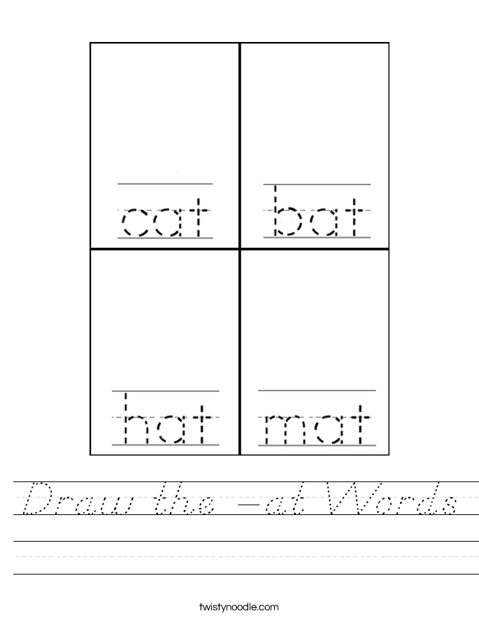 Draw the -at Words Worksheet