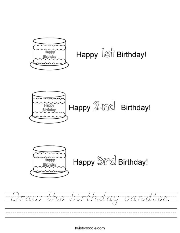 Draw Noodle Birthday Cake