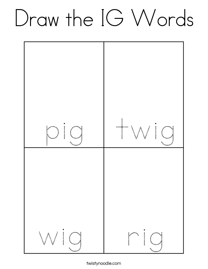 Draw the IG Words Coloring Page