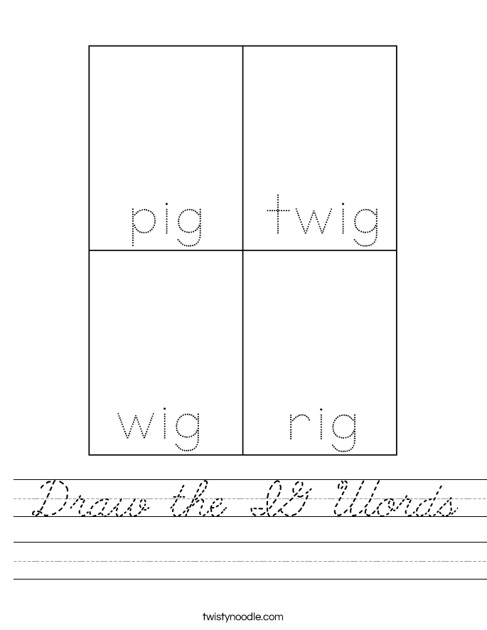Draw the IG Words Worksheet