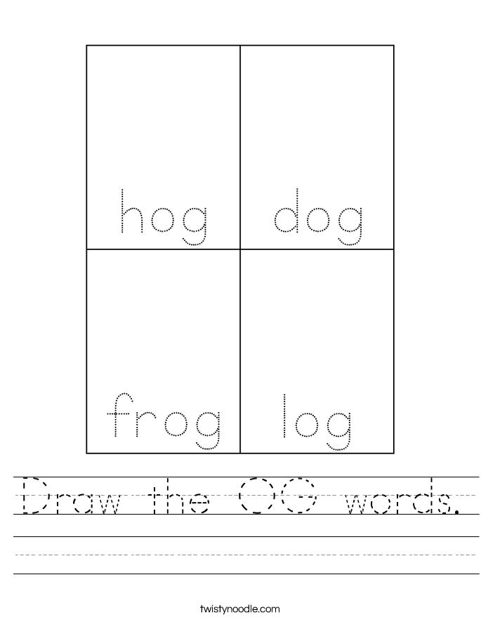 Draw the OG words. Worksheet