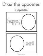 Draw the opposites Coloring Page