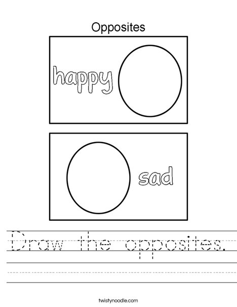 Draw the opposites.  Worksheet