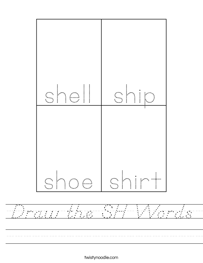 Draw the SH Words Worksheet