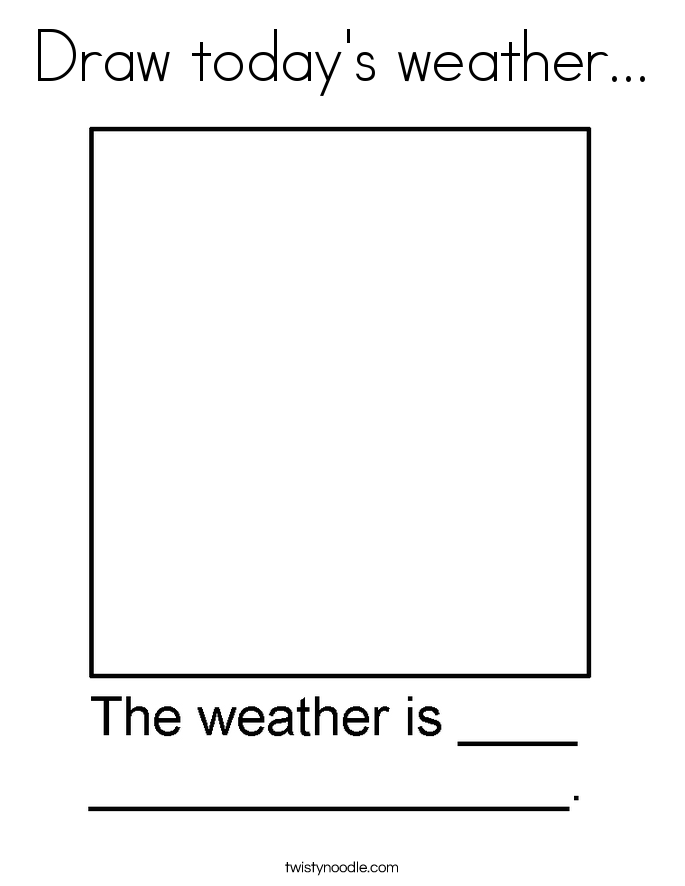 Draw today 39 s weather Coloring Page