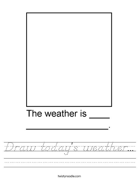 Draw the weather in the box. Worksheet