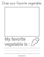 Draw your favorite vegetable Coloring Page