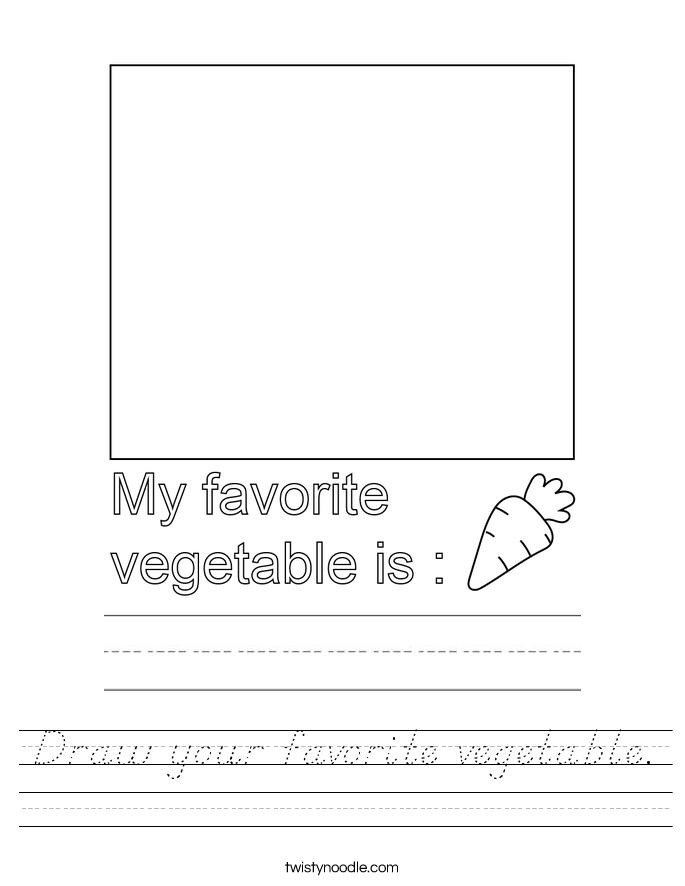 Draw your favorite vegetable. Worksheet