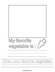 Draw your favorite vegetable Handwriting Sheet