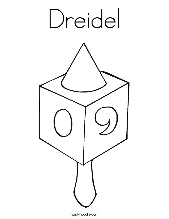 Dreidel Coloring Page Twisty Noodle