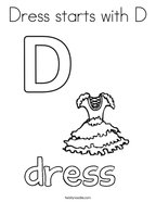 Dress starts with D Coloring Page