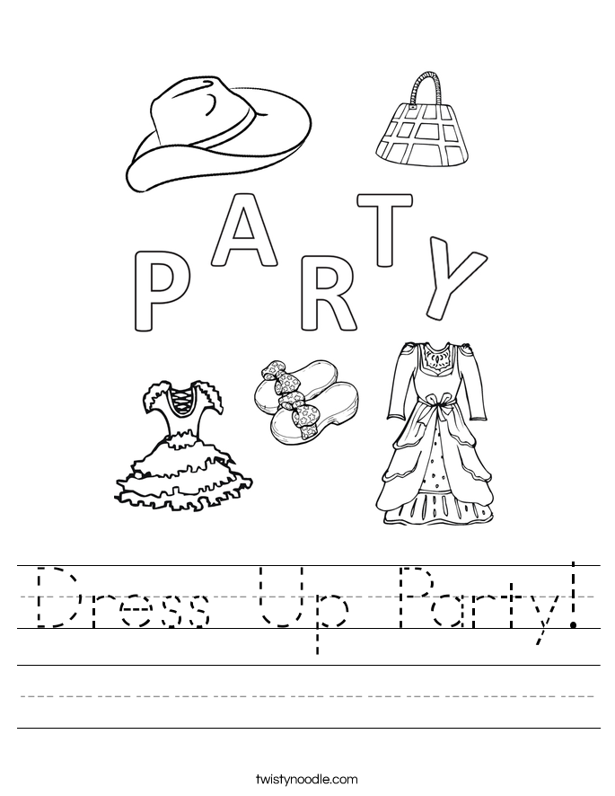 Dress Up Party! Worksheet