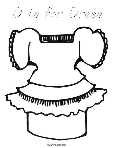 Pretty Dress Coloring Page