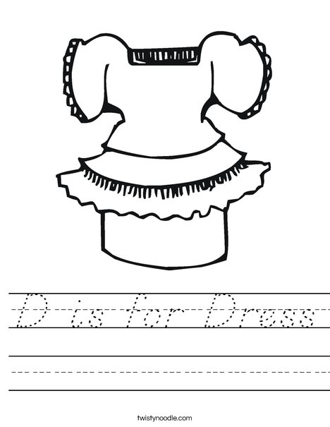 Pretty Dress Worksheet