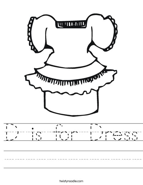 Pretty Dress Worksheet