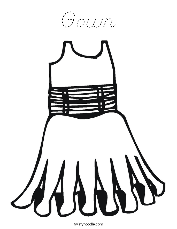 Gown Coloring Page