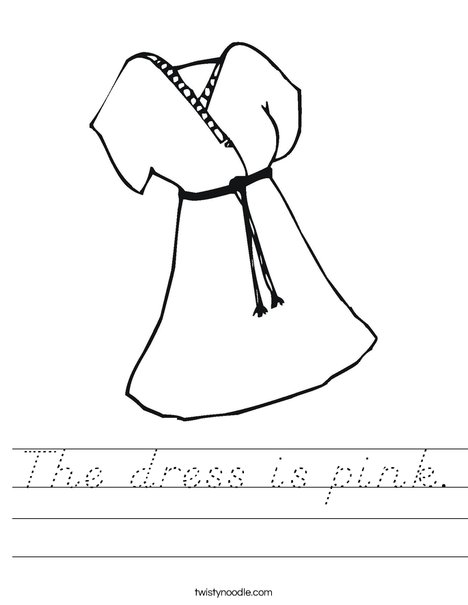 Pink Dress Worksheet