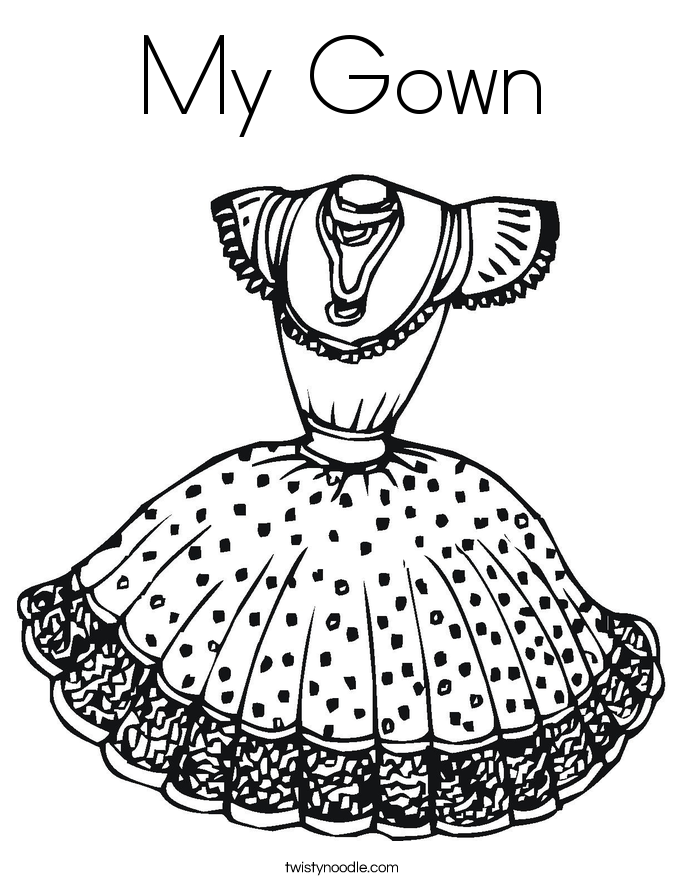 My Gown Coloring Page