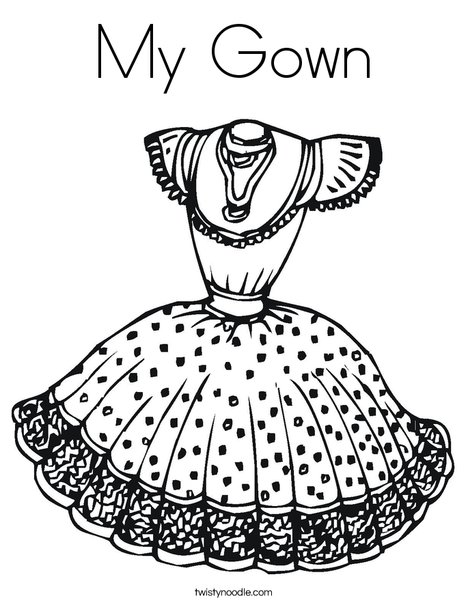 dress4 Coloring Page