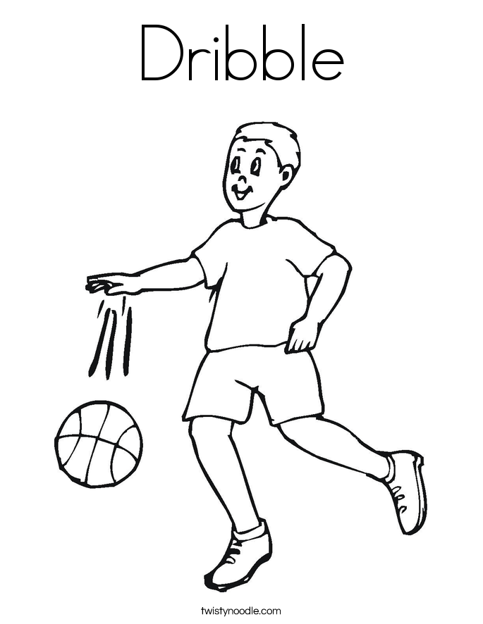 Dribble Coloring Page