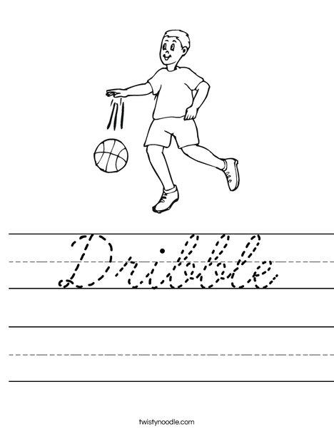 Dribbling Worksheet