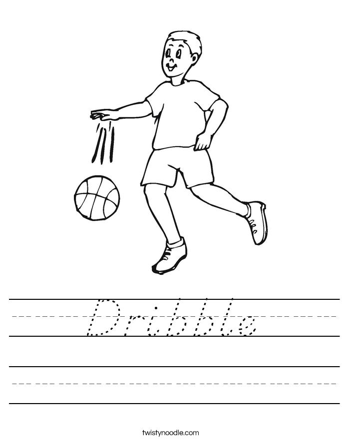 Dribble Worksheet