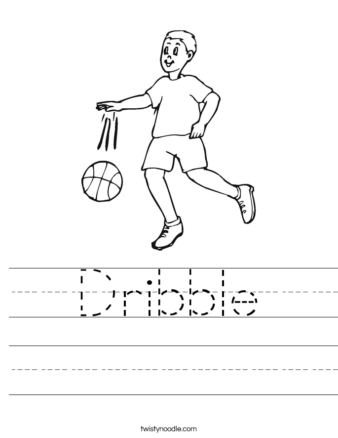Dribble Worksheet