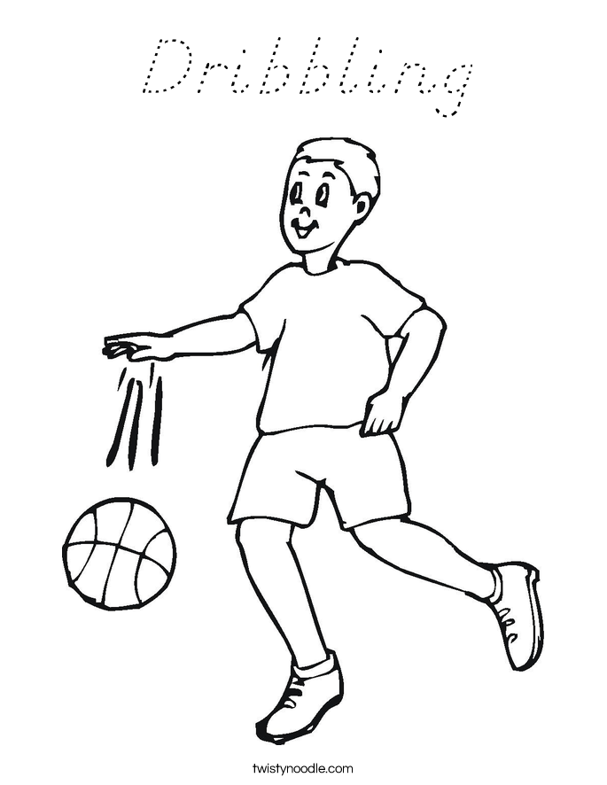 Dribbling Coloring Page