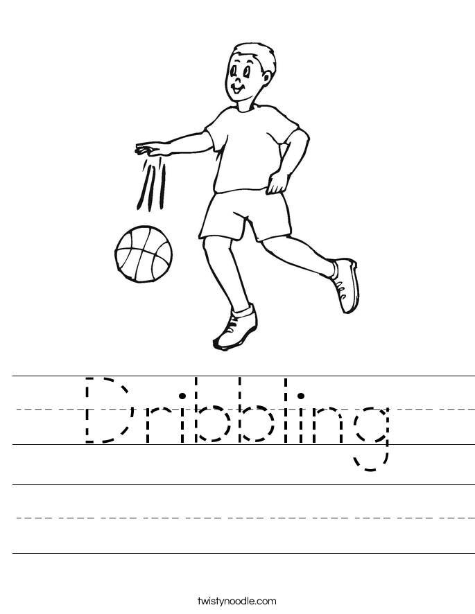Dribbling Worksheet
