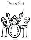 Drum SetColoring Page