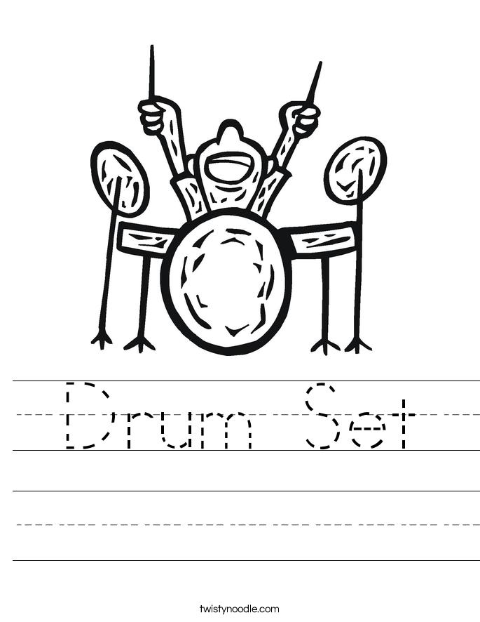 Drum Set Worksheet