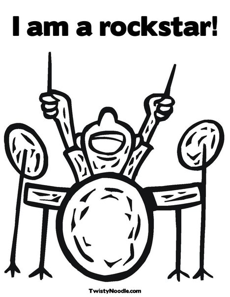 rockstar coloring pages - photo#36