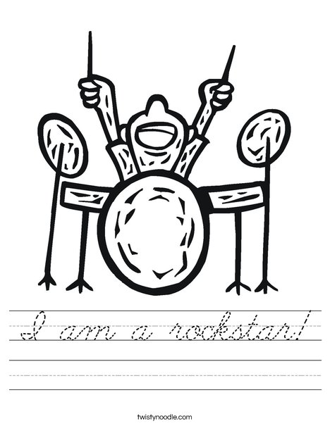 Drum Set Worksheet