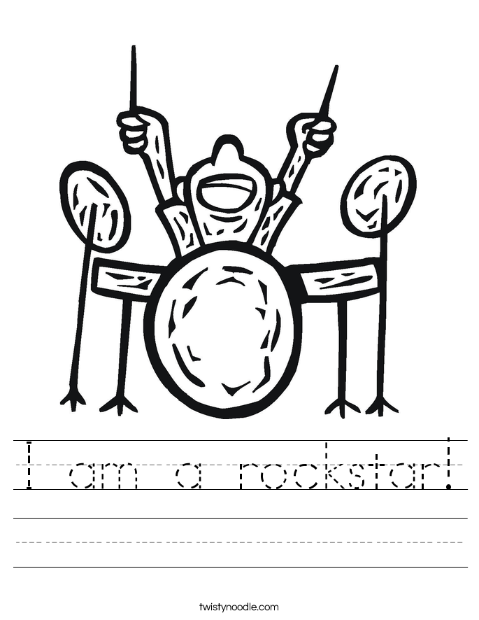 I am a rockstar! Worksheet