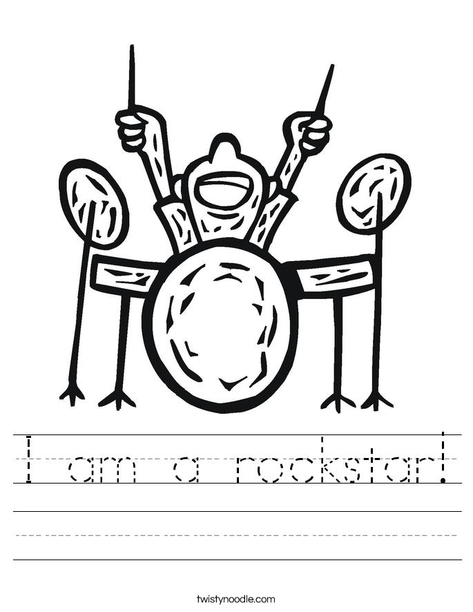 I am a rockstar! Worksheet