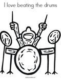 I love beating the drums Coloring Page