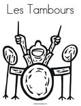 Les Tambours Coloring Page