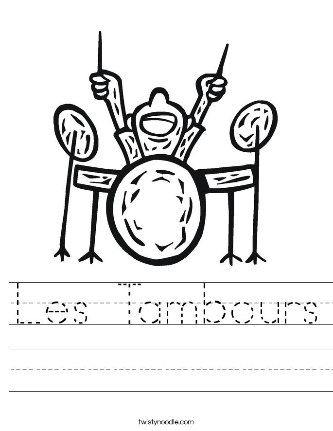 Les Tambours Worksheet