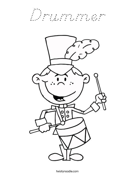 Drummer Coloring Page