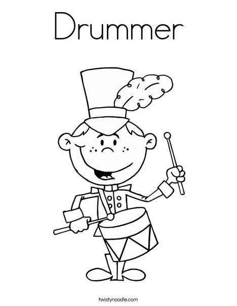 Drum Coloring Sheet - Worksheet & Coloring Pages