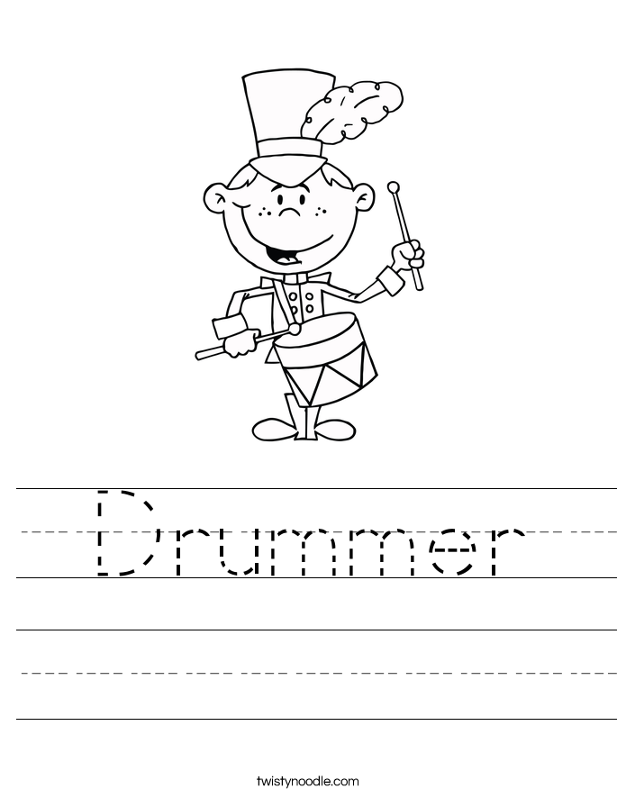 Drummer Worksheet