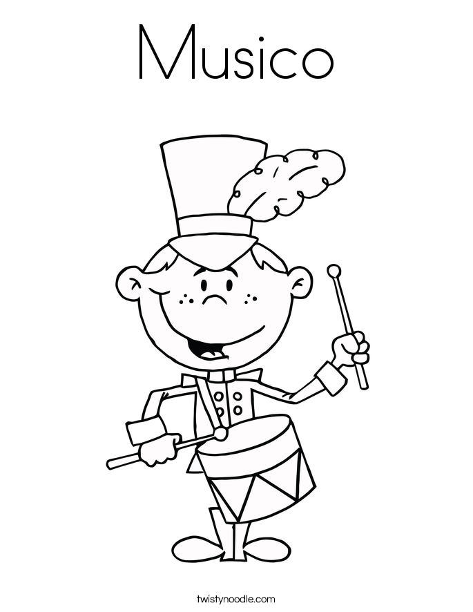 Musico Coloring Page