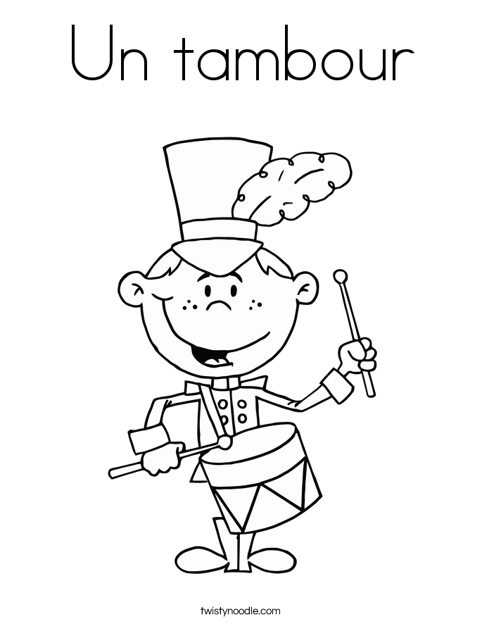 Un tambour Coloring Page