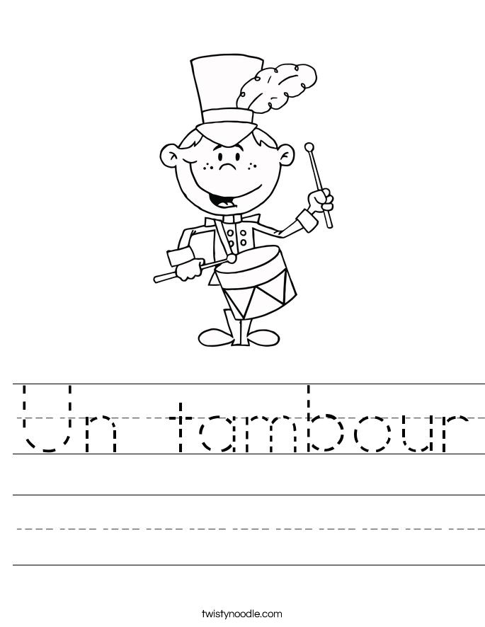 Un tambour Worksheet