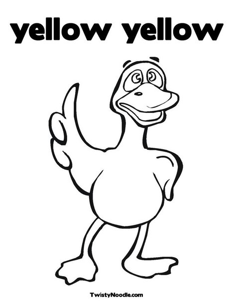 Yellow Duck Coloring Page Www Imgkid Com The Image Kid Yellow Coloring Pages